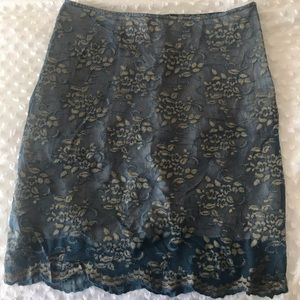 Free People Gold And Turquoise Skirt size 7